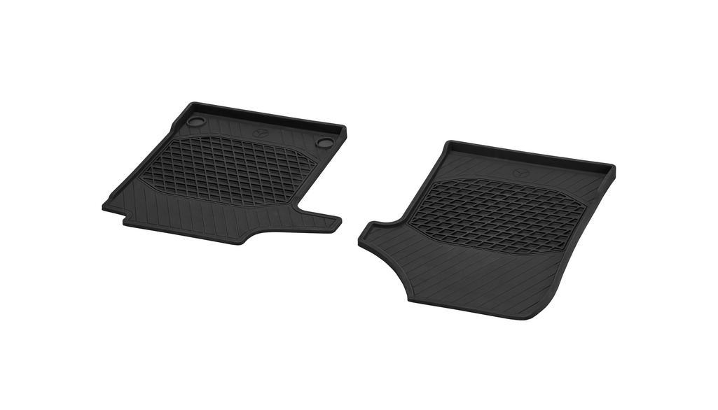 Allwettermatten, Fahrer- & Beifahrermatte, 2-teilig, für Fahrzeuge mit Teppichboden vorne (V44) LL, schwarz