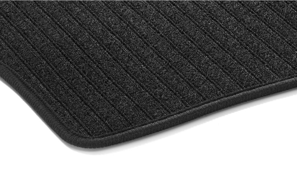 Ripsmatten CLASSIC, 3. Sitzreihe, 2-teilig schwarz
