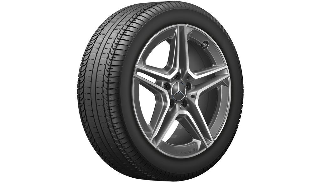 AMG 5-twin-spoke wheel 9 J x 18 ET 49, tantalite grey
