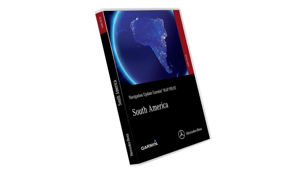 Mise à jour du logiciel de navigation, Garmin® MAP PILOT, Amérique du Sud, Version 2019/2020 Audio 20 CD, NTG5 Star1