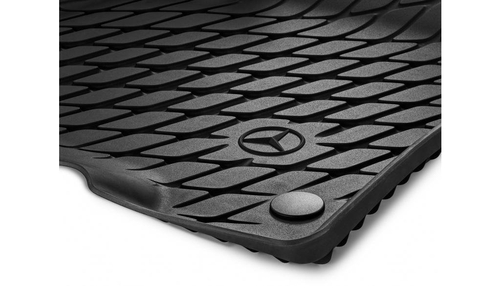Floor mat trays, Dynamic Squares, driver's/co-driver's mat, 2-piece black