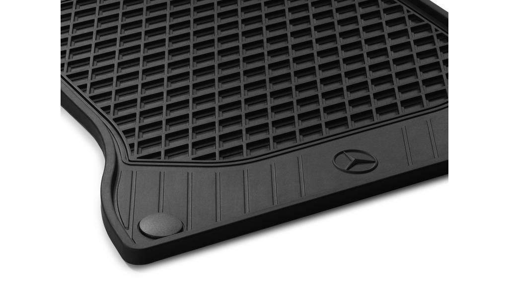 All-season floor mats CLASSIC, driver's/co-driver's mat, 2-piece black [A-Class, B-Class, CLA, GLA]