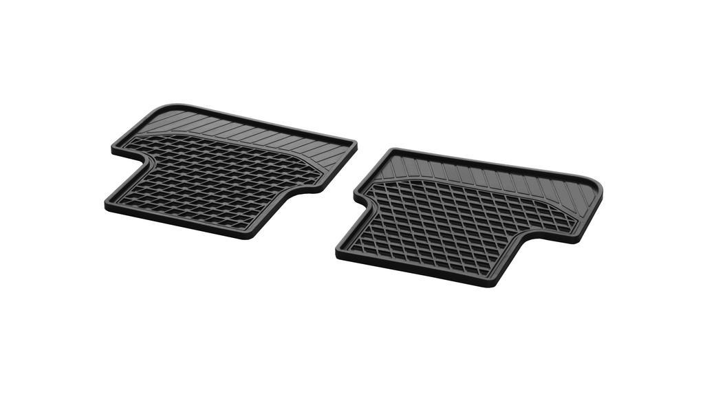 All-season floor mats CLASSIC, rear, 2-piece black