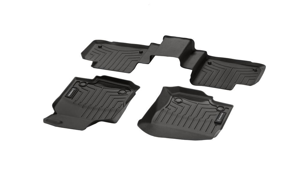 Floor mat trays CLASSIC, set, 3-piece mocha brown