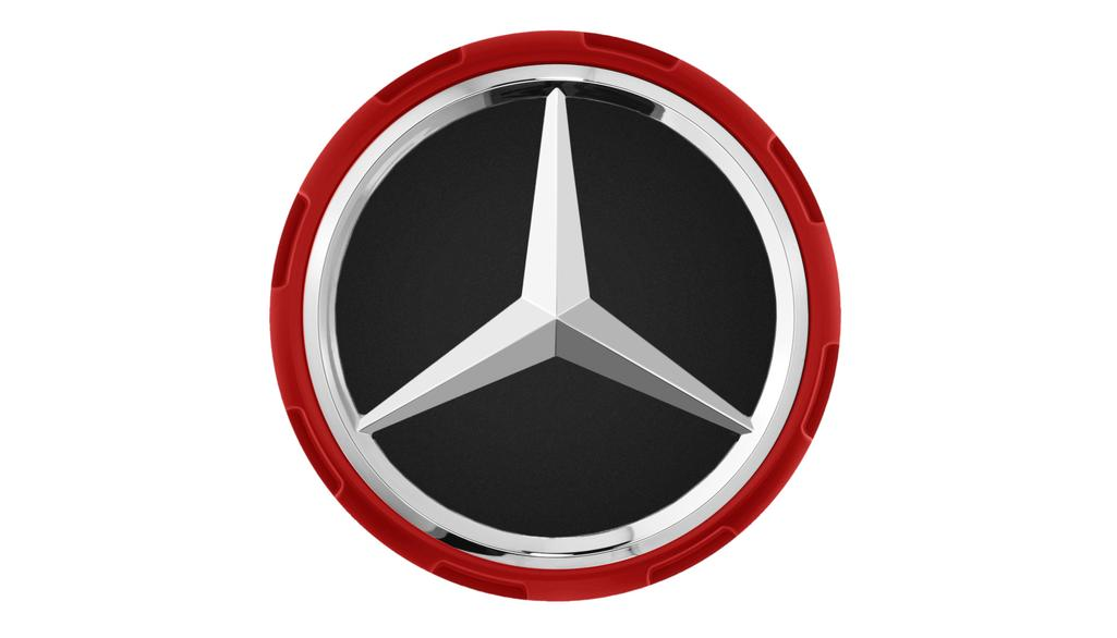 AMG hub cap, in centre lock design red