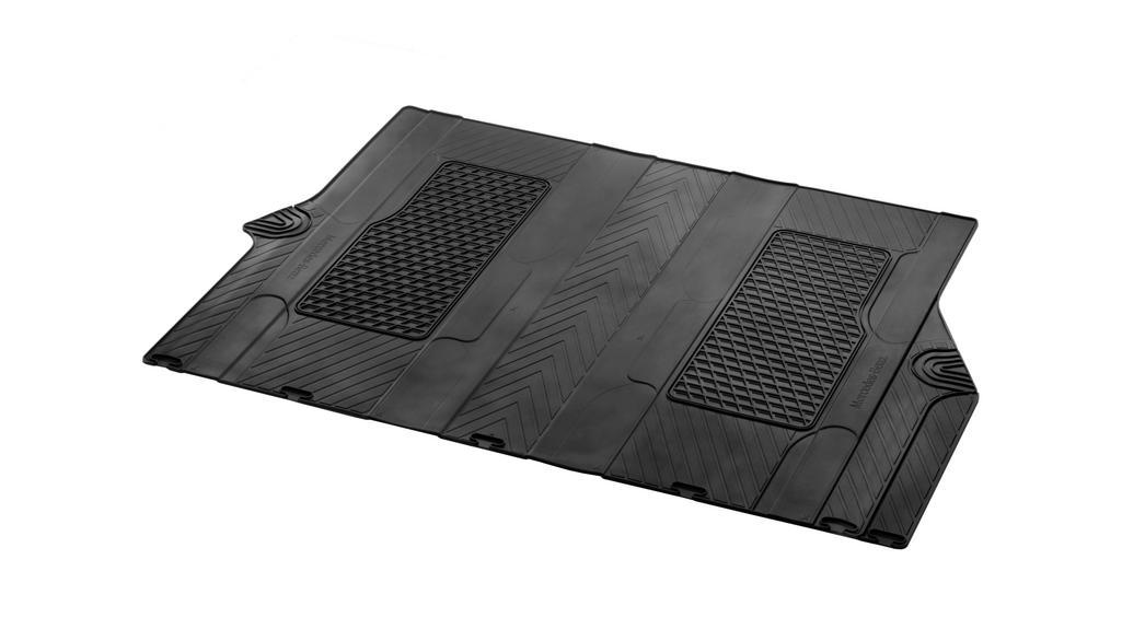All-season floor mats, passenger compartment, passenger compartment II, for twin and single rail, single LHD/RHD, black