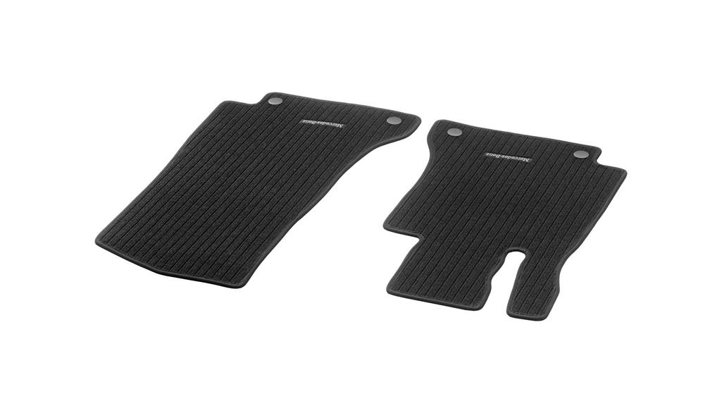 Ripsmatten CLASSIC, Fahrer-/Beifahrermatte, 2-teilig schwarz