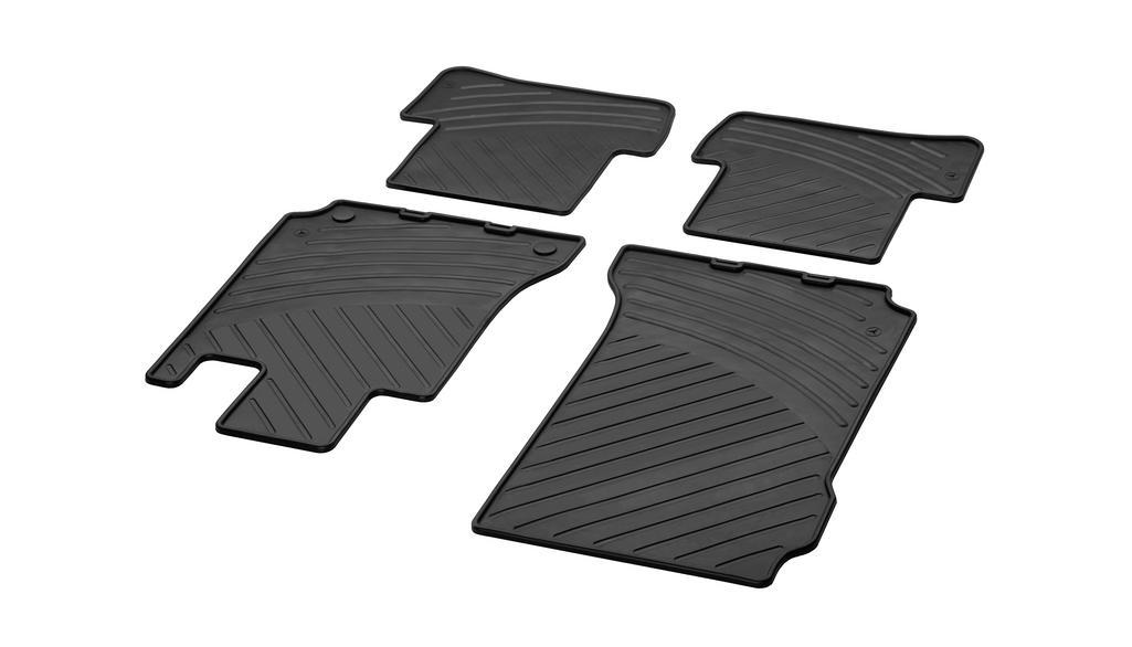 All-season floor mats CLASSIC, set, 4-piece black