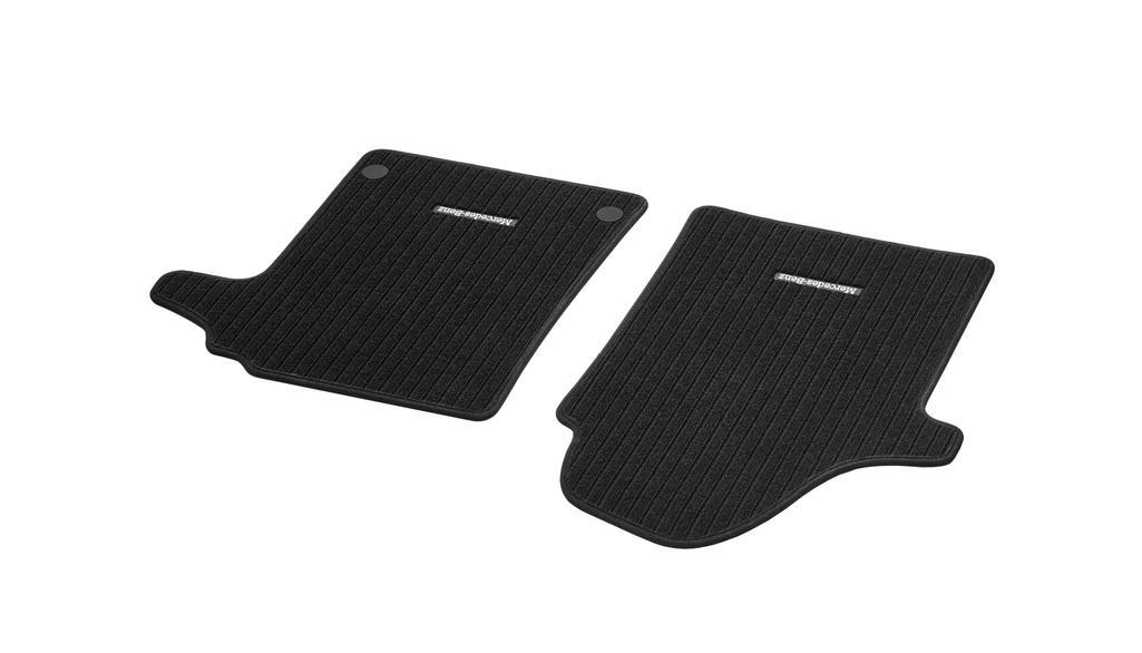 Rep floor mats, driver's & co-driver's mat, 2-piece RHD, black
