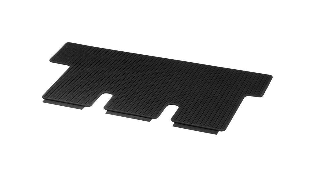Ripsmatten, Gepäckraum, mit Einfachschiene, 1-teilig, A2, lang LL/RL, schwarz