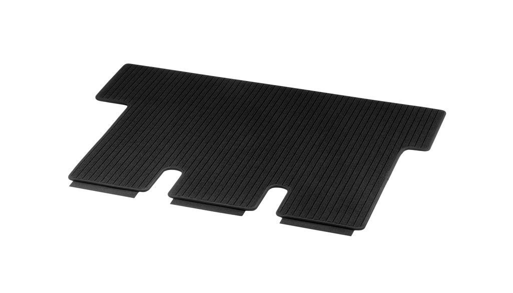 Ripsmatten, Gepäckraum, mit Einfachschiene, 1-teilig, A3, extralang LL/RL, schwarz