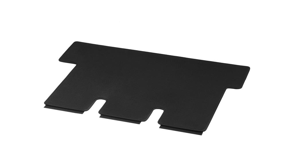 Velour floor mats, luggage compartment, with single rail, single, A3, extra-long LHD/RHD, black