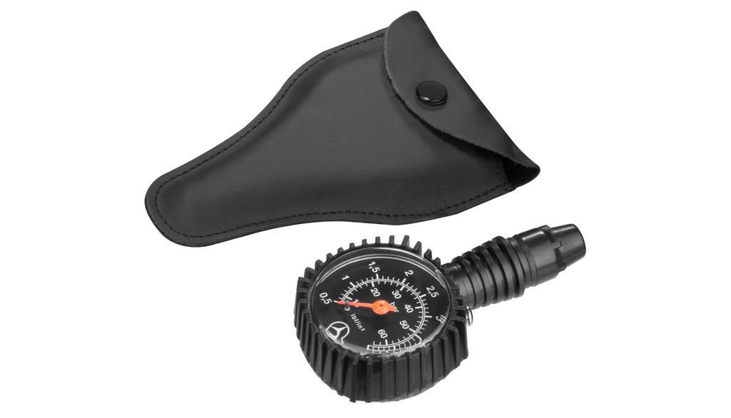 Tyre pressure gauge black, plastic