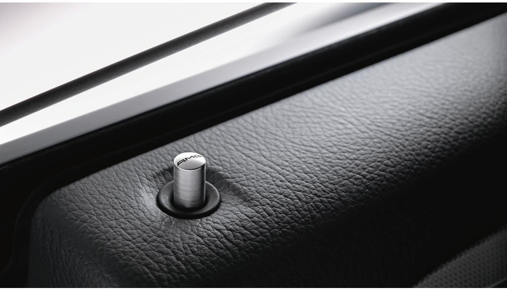 AMG Tür-Pin, rund silbergrau, Edelstahl, gebürstet