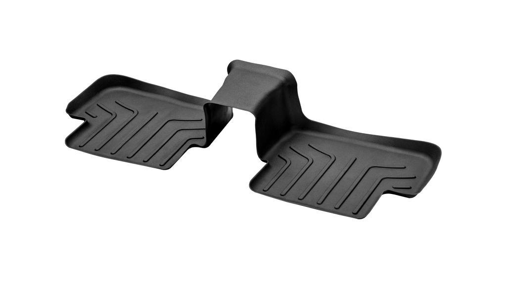 Floor mat trays CLASSIC, rear, single black