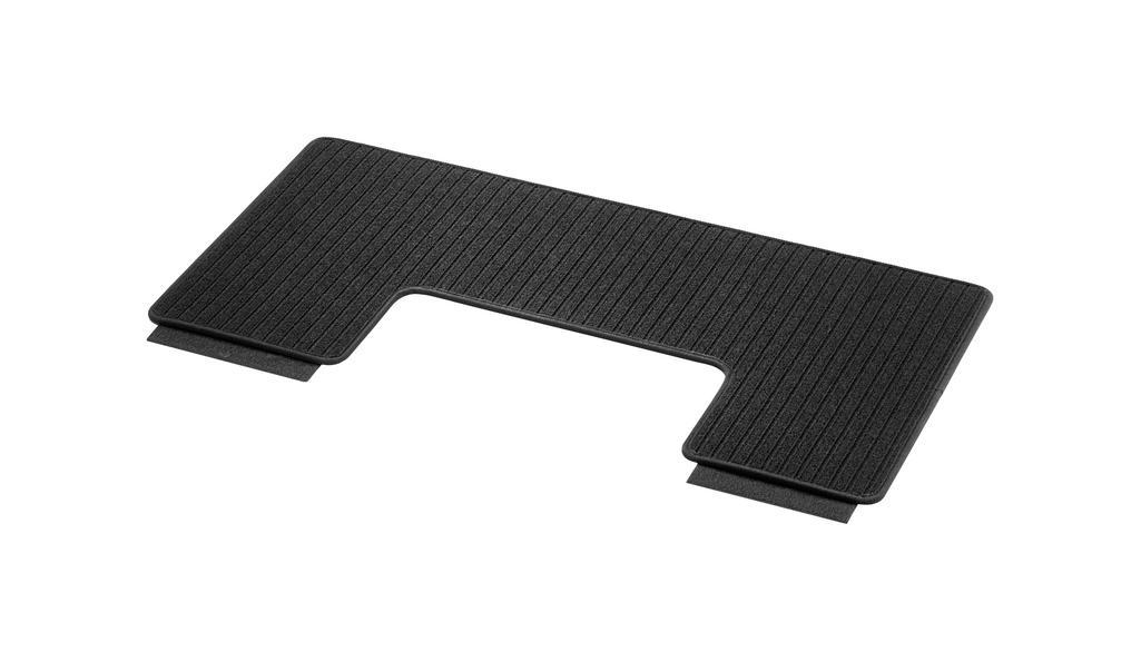Ripsmatten, Gepäckraum, mit Doppelschiene, 1-teilig, A1, kompakt, für Laderaumunterteilung (YG4) LL/RL, schwarz