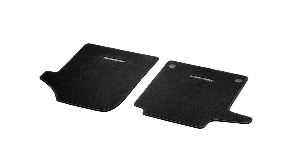 Veloursmatten Fahrer- & Beifahrermatte, 2-teilig, Innenraum Teppichboden (V44) LL, schwarz