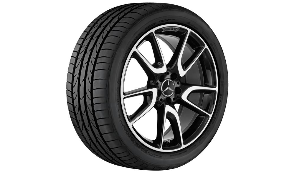 AMG 5-twin-spoke wheel 8 J x 20 ET 43, black