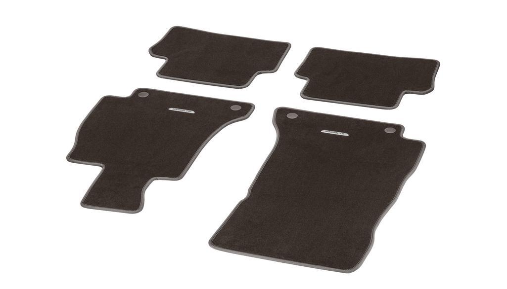 Velour floor mats CLASSIC, set, 4-piece, All-Terrain espresso brown