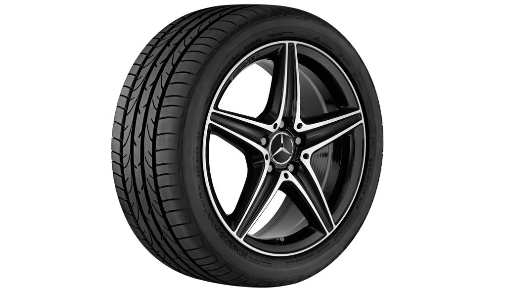 AMG 5-spoke wheel 8 J x 18 ET 43, black