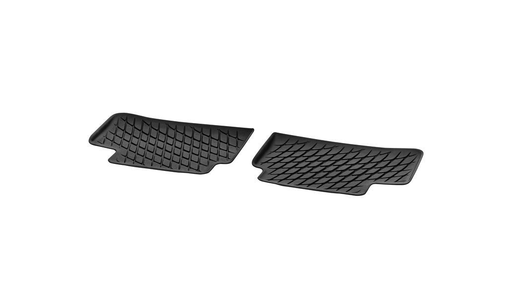 Floor mat trays, Dynamic Squares, rear, 2-piece black