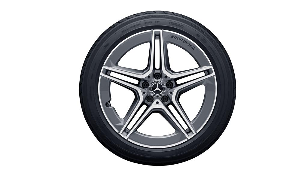 AMG 5-twin-spoke wheel 8 J x 19 ET 33, tremolite metallic