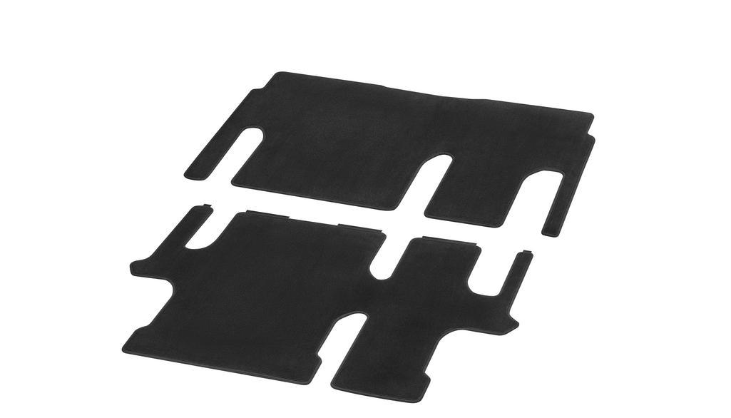 Veloursmatten, Fahrgastraum, mit Einfachschiene, 2 Schiebetüren (T19), 2-teilig, T19, U3R/UR3 schwarz