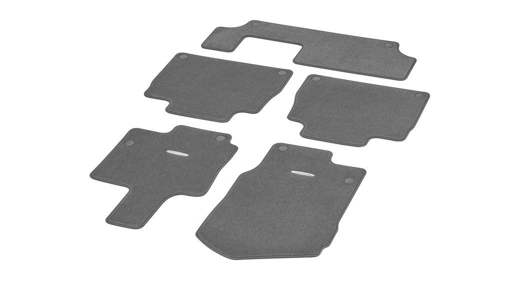 Veloursmatten CLASSIC, Satz, 5-teilig, mit 3. Sitzreihe magmagrau