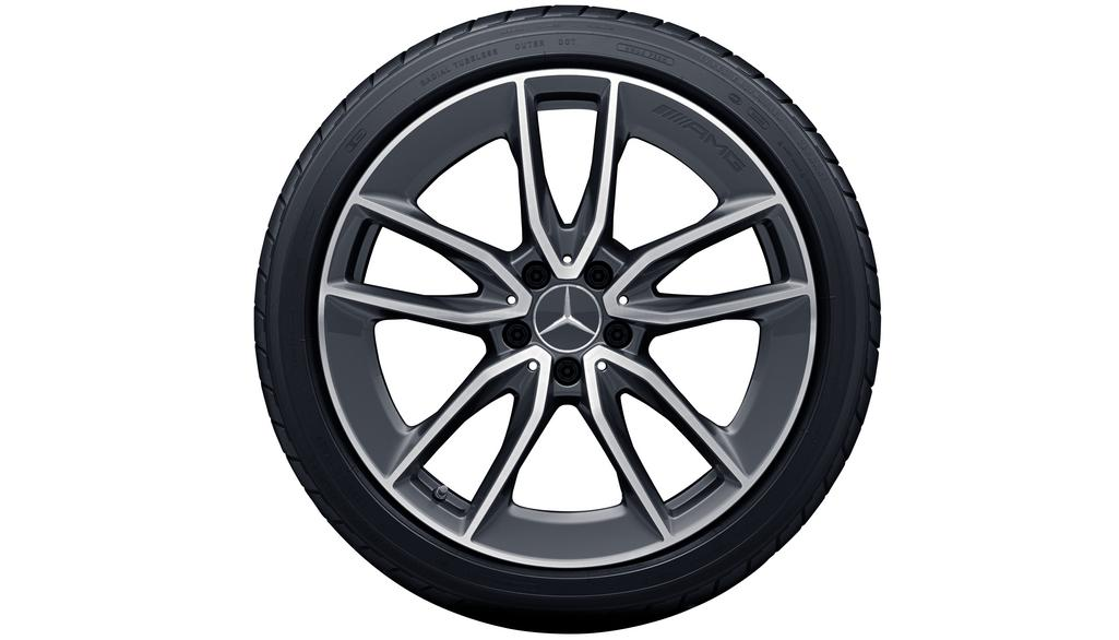 AMG 5-twin-spoke wheel 7.5 J x 19 ET 33, tantalite grey