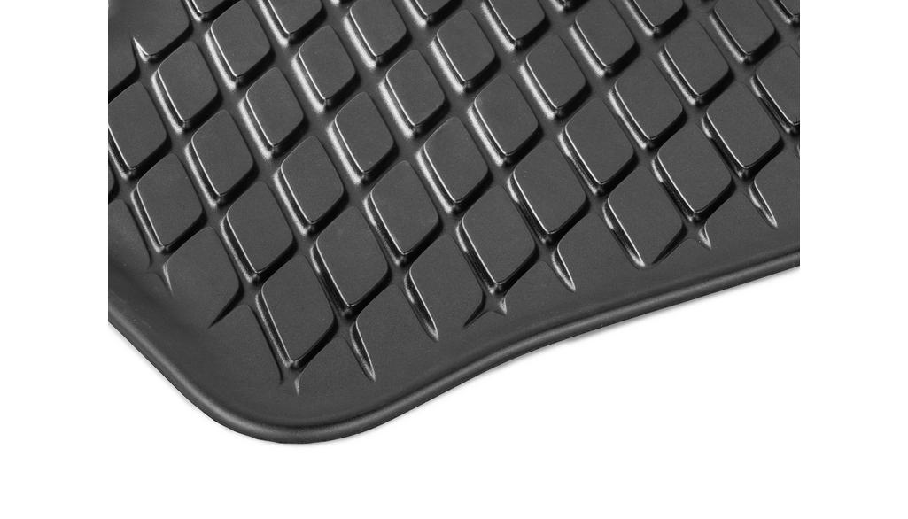 All-season floor mats Dynamic Squares, 3rd seat row, single black