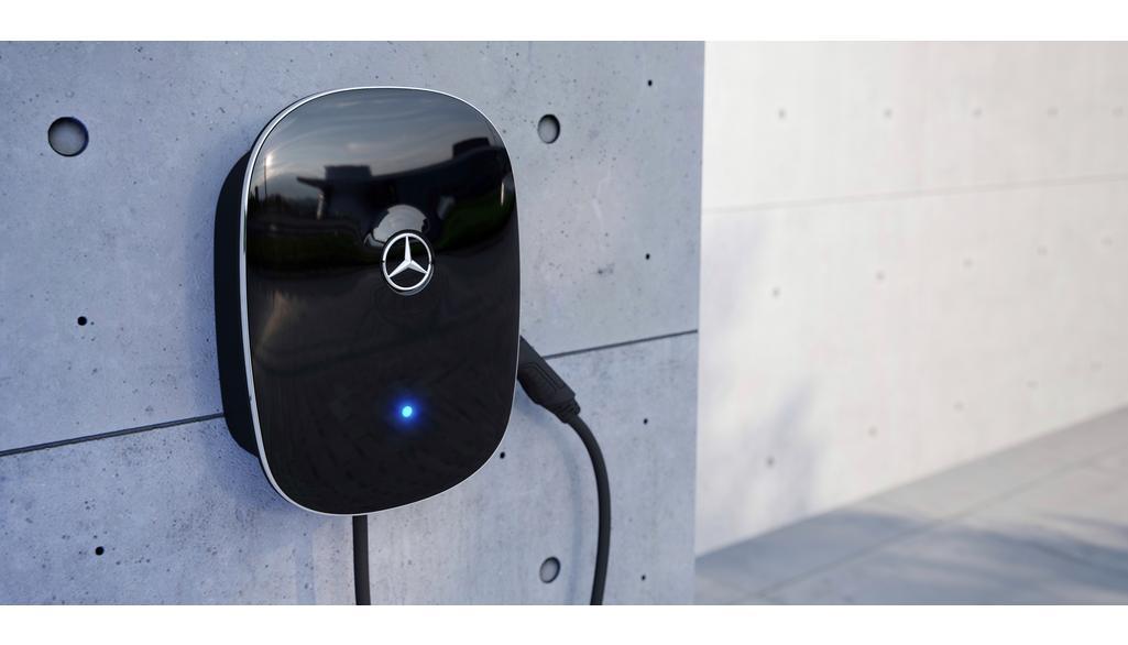 Mercedes-Benz Wallbox China, mit fest verbundenem Ladekabel schwarz