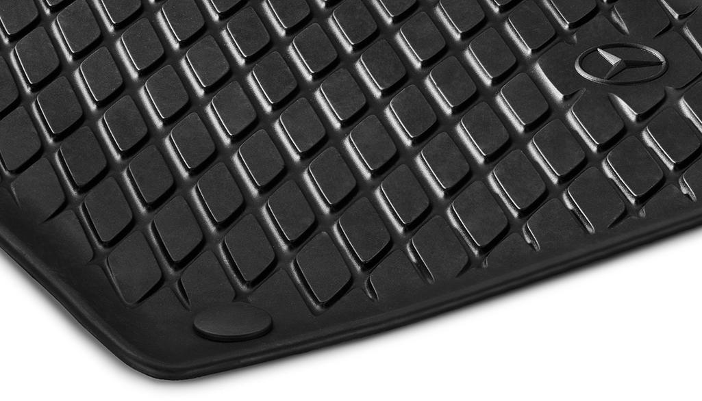 Allwettermatten Dynamic Squares, Fahrer-/Beifahrermatte, 2-teilig schwarz