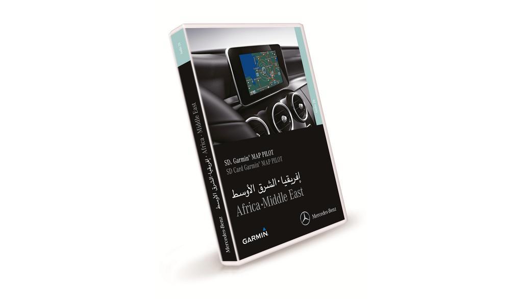 Garmin® MAP PILOT, navig. module SD card Africa/Mid. East, for retrofit Code 357 (EG9), models with pre-inst. Code 355 (EV5) Audio 20 CD, NTG5 Star2