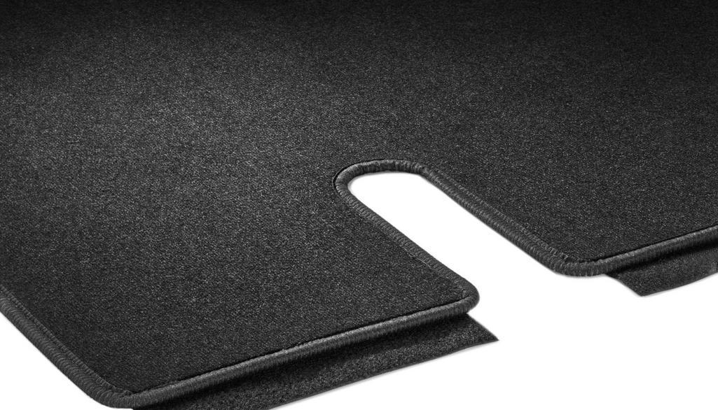 Veloursmatten, Gepäckraum, mit Einfachschiene, 1-teilig, IN3, U3R/UR3 schwarz